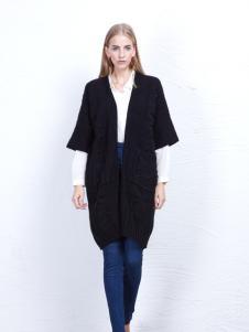 丹尼布鲁时尚黑色显瘦外套