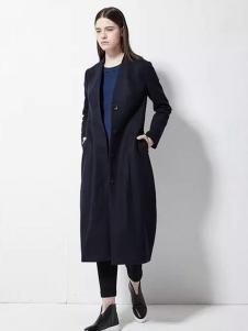 欧蒂芙女装新品修身长款大衣