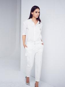艾蝶女装白色职业套装