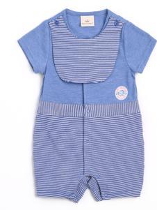 皇后婴儿婴幼装新款条纹连体衣