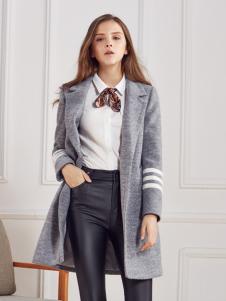 都市衣柜灰色简约版呢外套