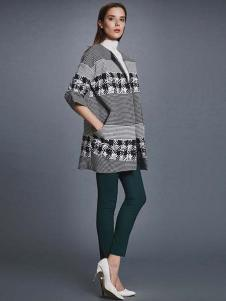 艾诺丝·雅诗女装秋冬新品廓形外套
