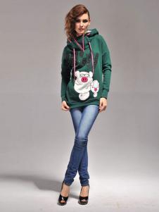 PINKPEPPER冰格贝尔女装可爱动物印花卫衣