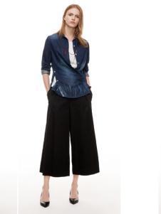主提女装黑色经典阔腿裤