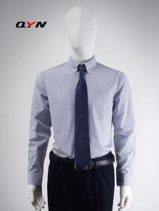 秋意濃男士格子襯衫尖領扣領襯衣CM08081041標準版