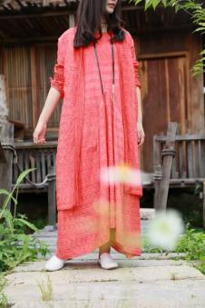 MOCI HIPAA2017春夏新品棉麻连衣裙