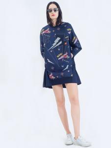 LOFTSHINE女装新品时尚卫衣裙