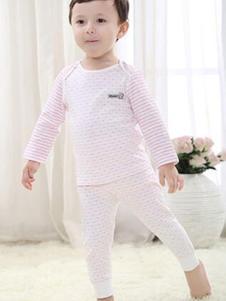 卓儿婴童装条纹棉质内衣套装