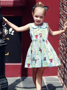 叮当猫童装女童印花甜美裙子