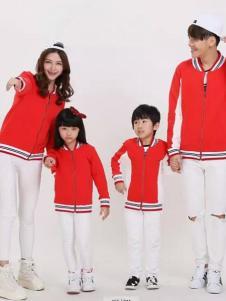 52017亲子装新品红色休闲外套