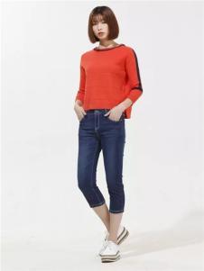 云上写生2017春新品红色长袖上衣