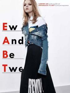 ALLYALL艾利欧女装2017春季新品牛仔外套