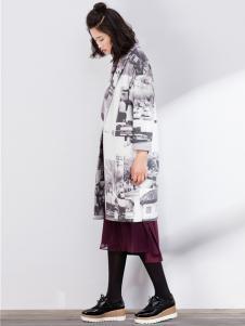 SUNMORE尚默女装新品西装领大衣