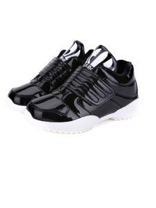 卡丁童鞋新品黑色防水运动鞋