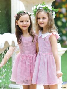 M&Q大眼蛙粉色连衣裙