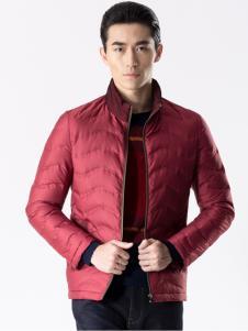 阿仕顿男装新品红色立领棉衣