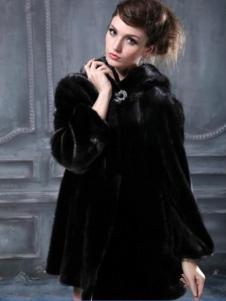 Mars玛尔斯女装黑色大衣