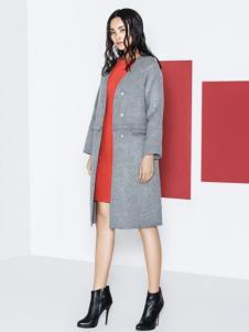 衣架女装灰色大衣