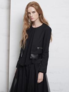 艾蝶女装黑色纱裙