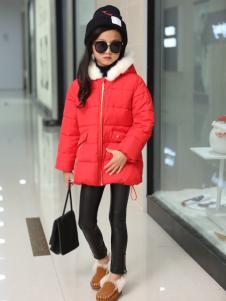 淘淘猫女童红色羽绒服