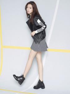 VIKI女装黑色休闲夹克衫