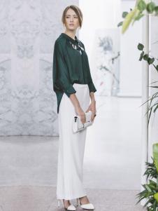 DE CLASSIE女装墨绿色衬衫