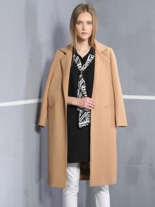 安娜ANNA女装秋冬款直筒型修身大衣