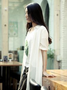 片断女装短袖衬衫