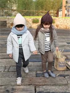 童领男童女童装棉麻韩版中长款棉服套装