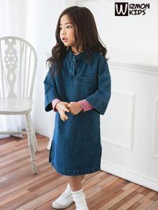 蓝角兽牛仔面料连衣裙