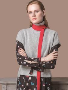 HelenModa女装新品高领针织套装