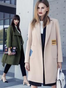 依目了然女装秋冬西装领大衣