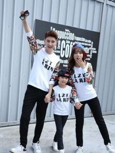 L'OZIYN龙子印亲子装系列字母印花T恤
