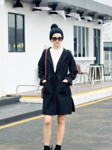 艾米时尚黑色外套新款