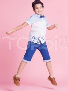 TOPBI淘帝童装男童翻领衬衫