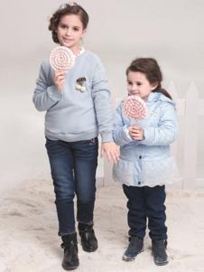 贝乐鼠童装女童针织衫