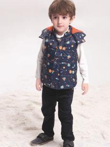 贝乐鼠童装印花棉马甲