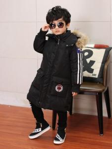 佰林格都童装佰林格都童装秋冬新品黑色长款棉服