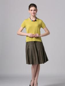 Phidias菲迪雅丝女装嫩黄色上衣