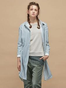 GOZO女装条纹衬衫 款号273105