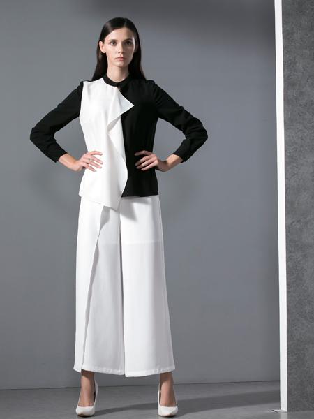 乔帛春季黑白服饰新款
