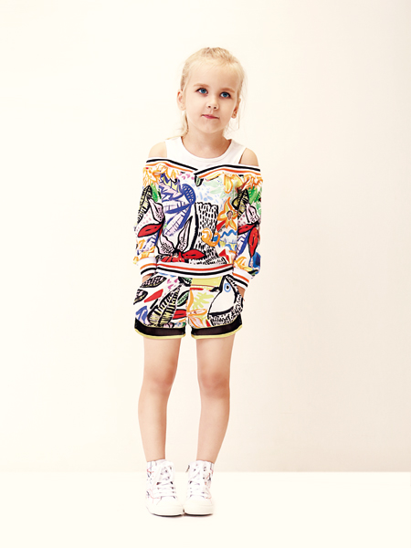 芙丽芙丽时尚印花外套女童