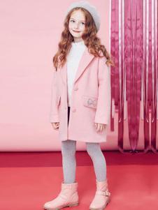 DEESHA笛莎童装粉色西装领外套