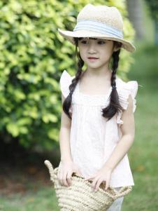 茶子树童装春夏装纯色无袖上衣
