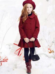 DEESHA笛莎童装红色荷叶边外套