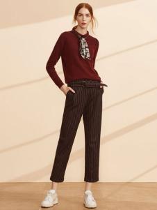 迪赛尼斯女装条纹休闲裤