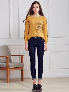 都市衣柜黄色休闲T恤