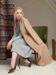 帝伦奴那女装长款纯色大衣