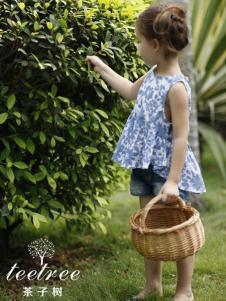茶子树童装春夏装印花布上衣