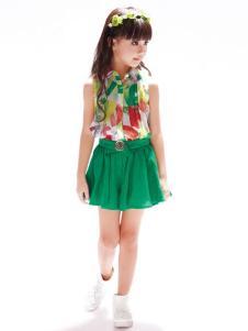 布衣班纳童装女童雪纺衬衫